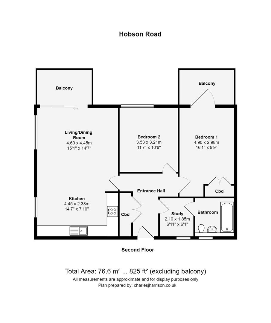 Floor plan Hobson Road, Trumpington, Cambridge